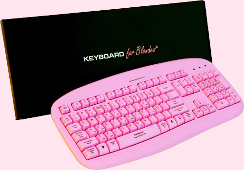 Keyboards for Blondes