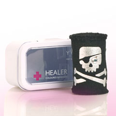 Bandage – black, with skull